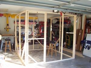 Greenhouse Construction Under Way in Garage