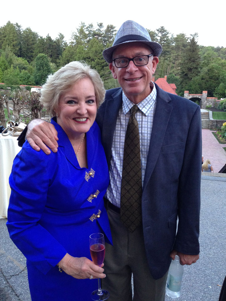 Susan Fox and Paul Zimmerman at The Biltmore Rose Trials Asheville NC