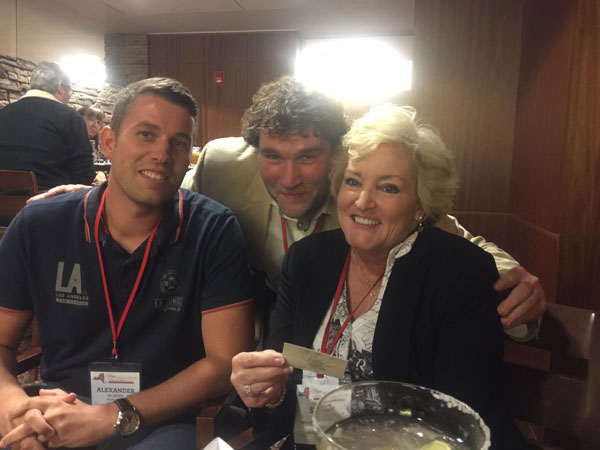 Alexander Kordes of Kordes Roses, Sparrieshoop, Germany and Thomas Proll, Lead Rose Breeder of Kordes Roses at The Fall American Rose Convention, Syracuse, NY September, 10-14, 2015