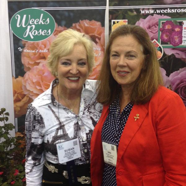 Karen Kemp-Docksteader, Sales & Marketing Manager for Weeks Roses