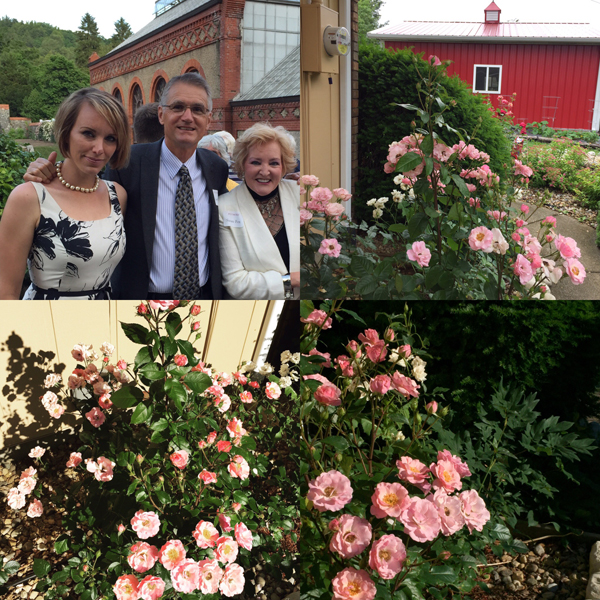 Dr. & Mrs. Keith Zary & me at the Biltmore Rose Trials & Dr. Zary's Rose 'Kimberlina'